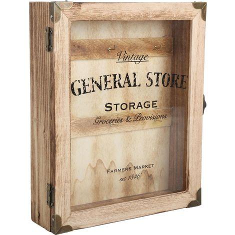 Boite à clés en bois General store