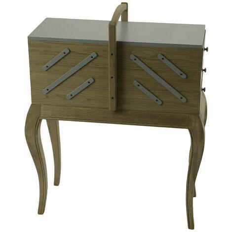 Boîte à couture en bois 6 tiroirs