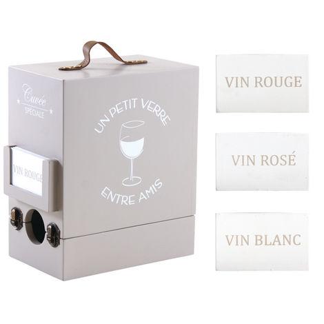Boîte à cubi 3 litres en bois - Dim: 19,5 x 12 x 23 cm -PEGANE-
