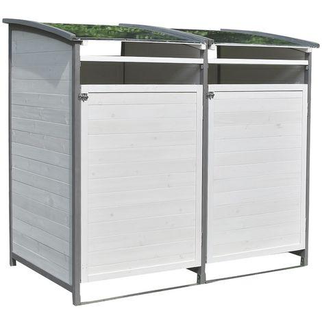 Boîte à déchets - boîte simple + boîte annexe blanc/gris