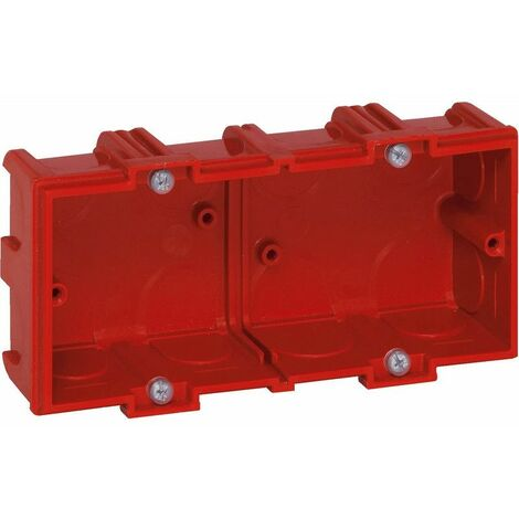 Boîte à encastrer Batibox maçonnerie 2 postes profondeur 40mm (090532)