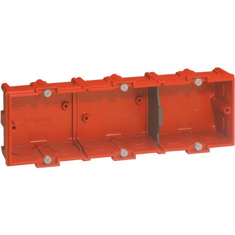 Boîte à encastrer Batibox maçonnerie 3 postes profondeur 40mm (090533)