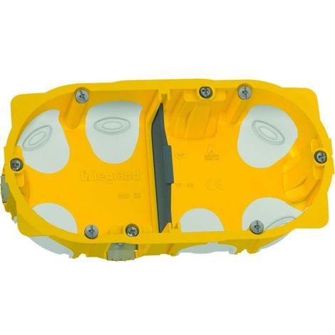 Boîte à encastrer Ecobatibox pour plaque de plâtre - 2 postes