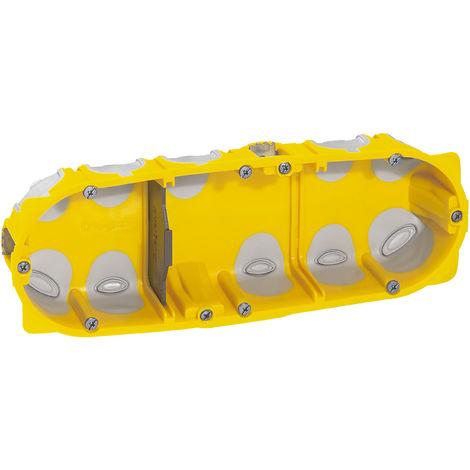 Boîte à encastrer Ecobatibox pour plaque de plâtre - 3 postes