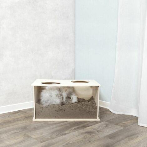 Boîte à fouiner, lapin, en bois - 58 × 30 × 38 cm