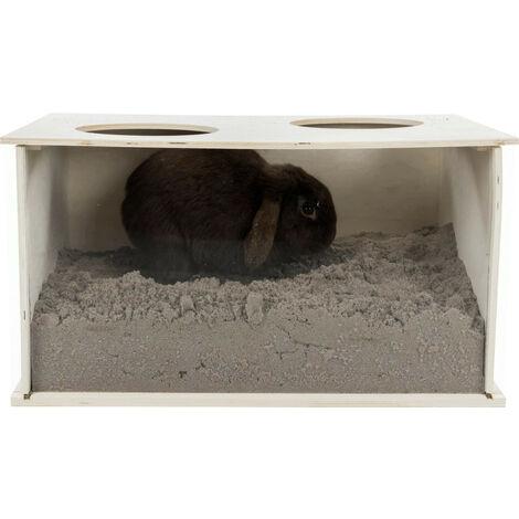 Boite à fouiner pour lapins 58 × 30 × 38 cm.
