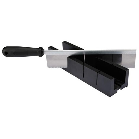 BOITE A ONGLETS - AVEC SCIE - 245 x 40 x 35 mm (RI7448)
