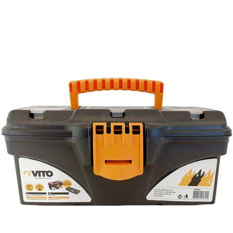 Boite à outils 13 VITO 320 x 165 x 136 mm- Caisse a outils multi-rangement haute résistance