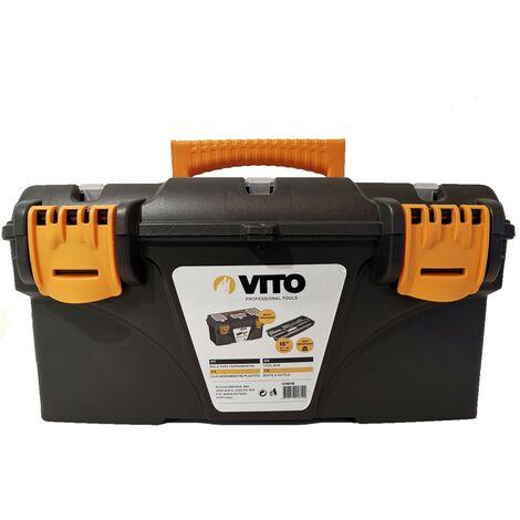 Boite à outils 16 410 x 209 x 195 mm Caisse a outils multi-rangement haute résistance