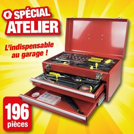 Boîte à outils 196 pièces