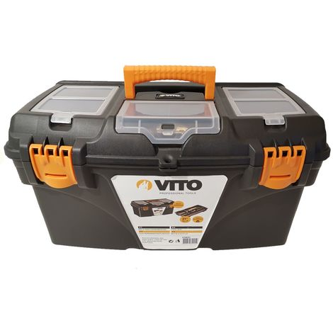 Boite à outils 21 535 x 291 x 280 mm la boite a outils multi-rangement haute résistance