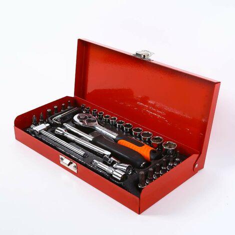 Boite à outils avec clé à écrou 99 pièces TX