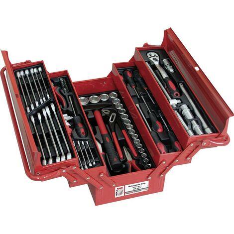 Boîte à outils garnie Holzmann Maschinen WZK86CrV rouge 1 pc(s)