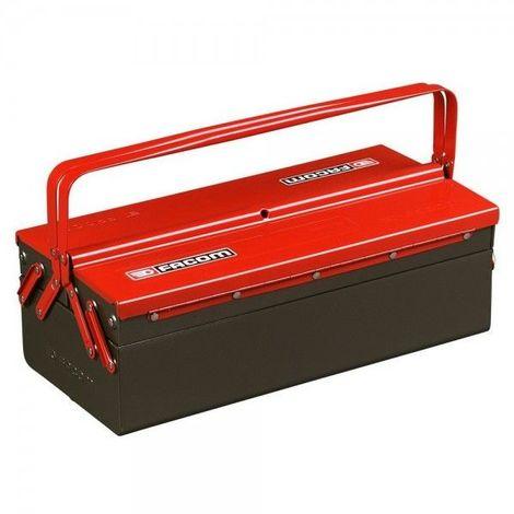 Boite à outils métallique Facom avec 3 cases 77.19