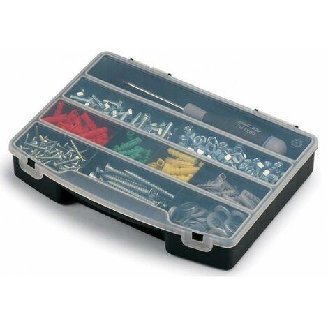 Boite à outils organiseur - 10 cases - Lot de 10 pcs - Noir