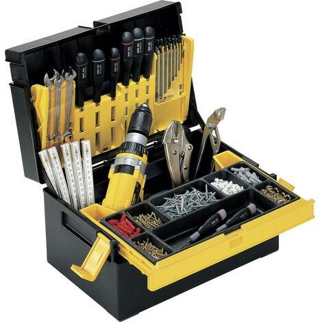 Boîte à outils vide Alutec 56550 plastique noir, jaune 1 pc(s) Q865831