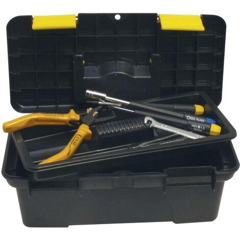 Boîte à outils vide Donau Elektronik RB25 plastique noir, jaune 1 pc(s)