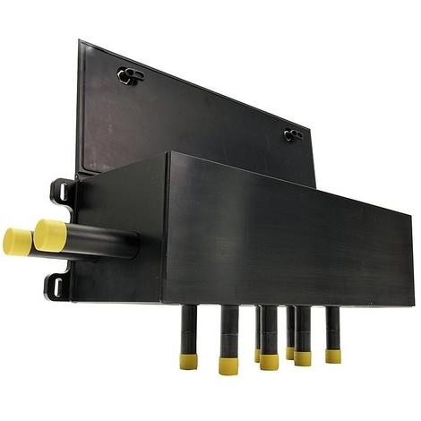 Boite a puits murale pour collecteur avec indicateur de debit 4-20L/m Aller/Retour-40/32mm, 6 circuits