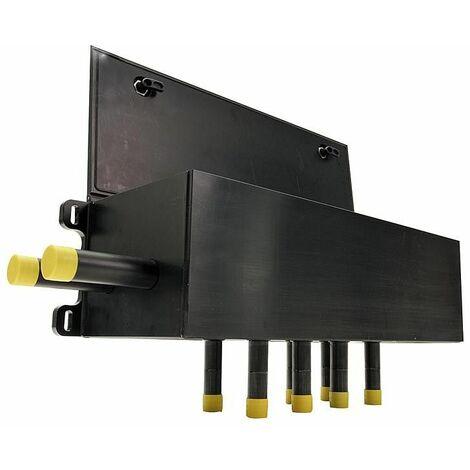 Boite a puits murale pour collecteur avec indicateur de debit 4-20L/m Aller/retour-40/32mm, 7 circuits