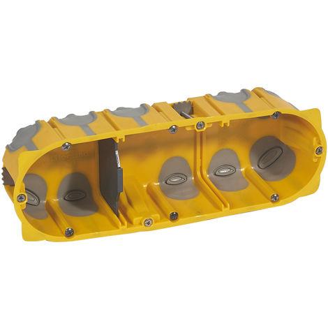 Boîte appareillage Energy 3 postes - Prof. 50mm - 6 à 8 modules - Legrand