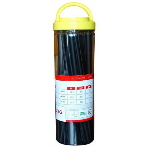 Boîte assortiment de gaines thermorétractables 20cm 2:1 pour isolation fils câbles éléctriques