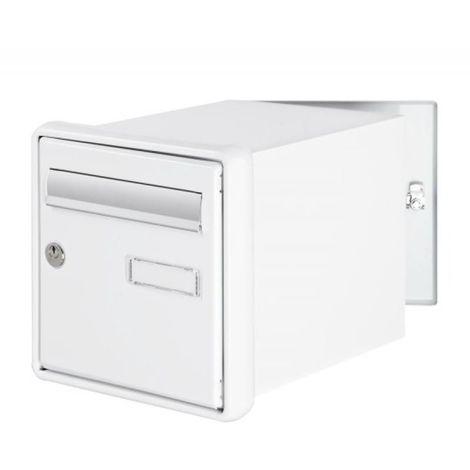Boîte aux lettres à encastrer Channel double face coloris blanc