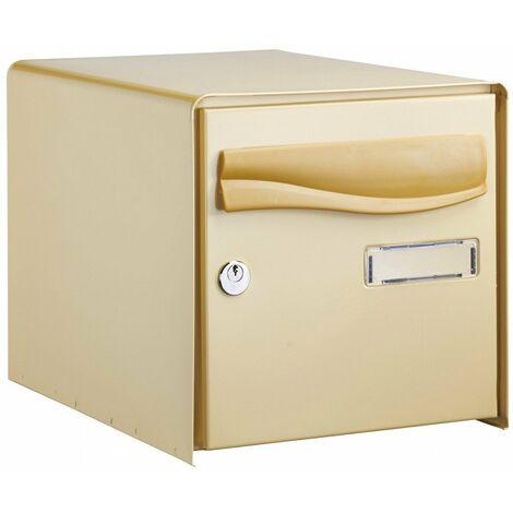 Boîte aux lettres à ouverture totale r-box lys bg simple face beige