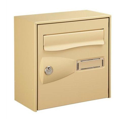 Boîte aux lettres demi-format Citadis simple face coloris beige