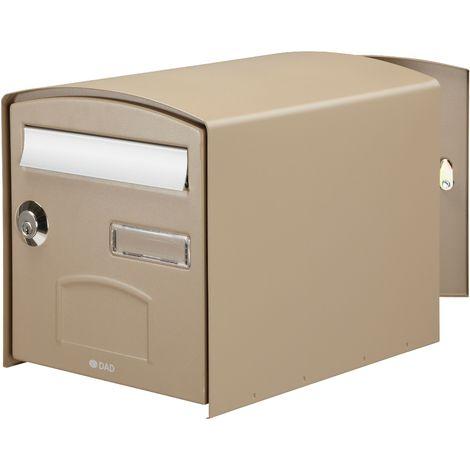 bo te aux lettres double face dome latte 124932. Black Bedroom Furniture Sets. Home Design Ideas