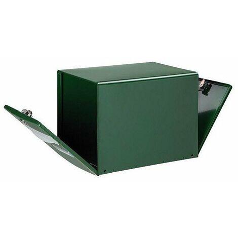 Boite aux lettres kube double face vert à facade abattante ref.123132