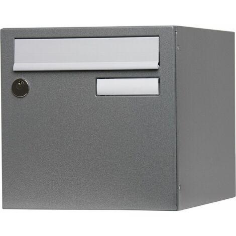 """main image of """"Boîte aux lettres normalisée 1 porte extérieur RENZ acier gris brillant"""""""