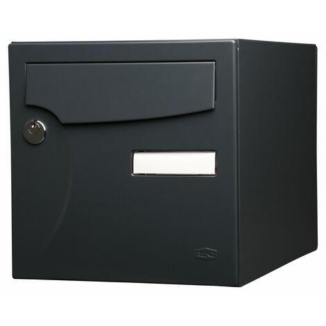 """main image of """"Boîte aux lettres normalisée 2 portes extérieur RENZ acier anthracite mat"""""""