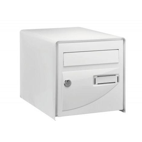 Boîte aux lettres Probat - simple face - blanc RAL 9016 - L 302 x H 300 x P 410 mm