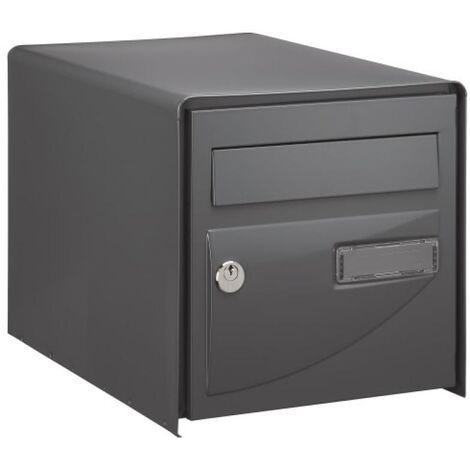 Boîte aux lettres Probat - simple face - noir RAL 9005 - L 302 x H 300 x P 410 mm