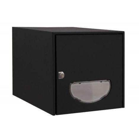 Boîte aux lettres Steel Box - double face - pierre RAL 1013 - L 300 x H 290 x P 410 mm