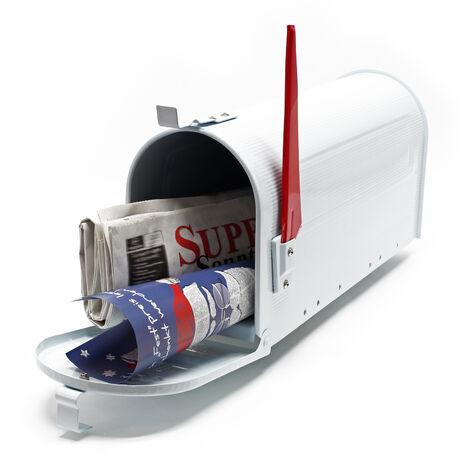 Boite aux lettres Style américain Design Couleur blanche Boite postale sur pied US Mailbox