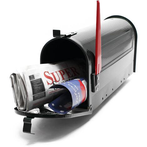 Boite aux lettres Style américain Design Couleur noire Boite postale sur pied US Mailbox