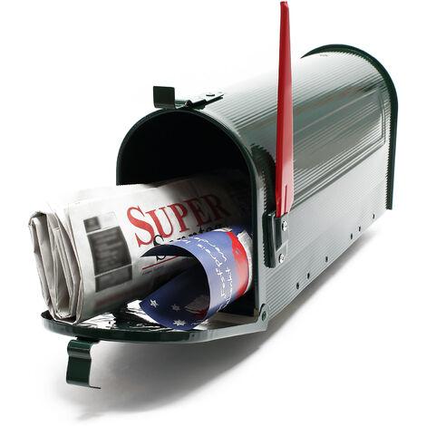Boite aux lettres Style américain Design Couleur verte Boite postale sur pied US Mailbox