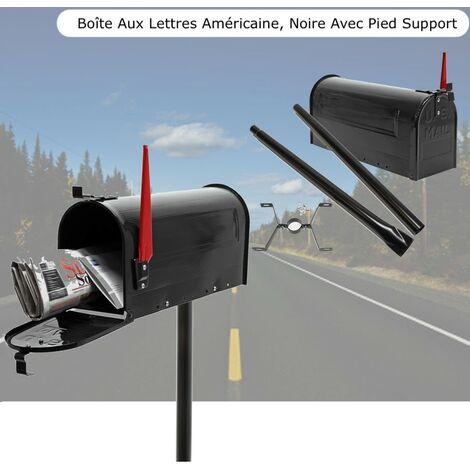Support pied de support noir Boîte Aux Lettres Boîte à Journaux Boîte Aux Lettres Boîte Aux Lettres Support