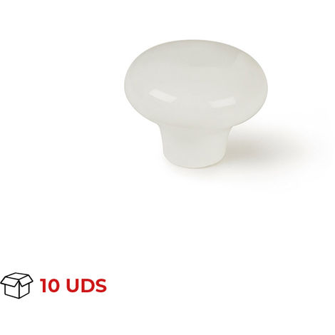 10 X Blanc Porcelaine Armoire Placard Tiroir Boutons 35 mm