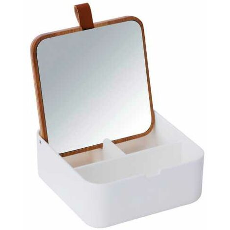 Boite avec miroir Bovisa Blanc