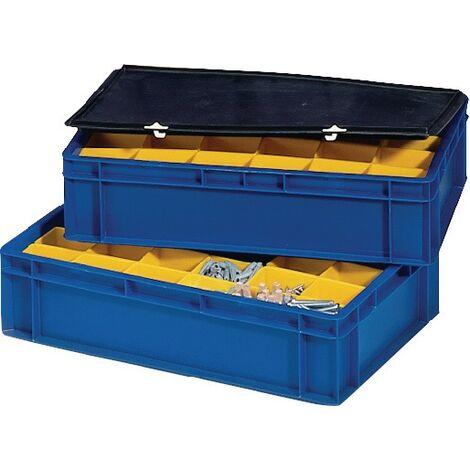 Boîte compartimentable 86 x 73 x 120 mm jaune adapté à 400 x 300 mm
