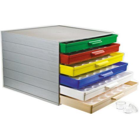 Boite compartimentée, 42 Compartiments, Plastique, 190mm x 272mm x 250mm