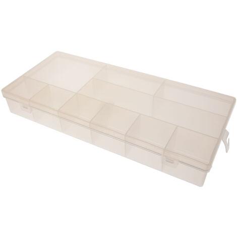 Boite compartimentée RS PRO, 10 Compartiments, Plastique, 50mm x 338mm x 153mm