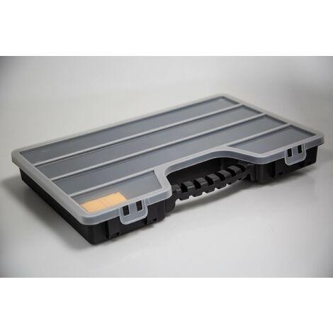 Boite compartimentée RS PRO, 17 Compartiments, Plastique, 60mm x 510mm x 330mm