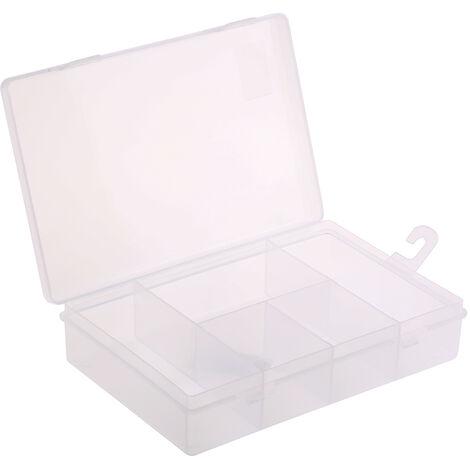 Boite compartimentée RS PRO, 5 Compartiments, Plastique, 40mm x 181mm x 125mm