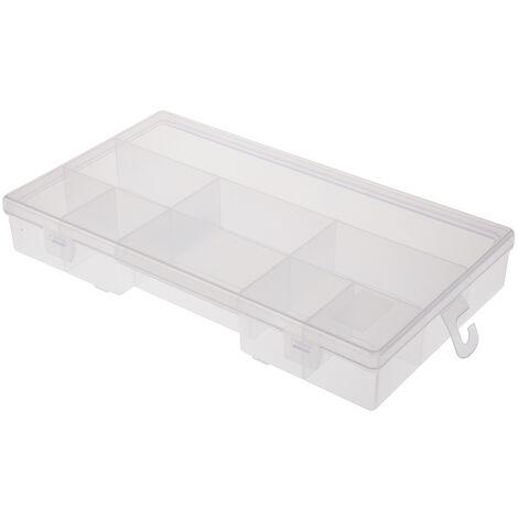 Boite compartimentée RS PRO, 9 Compartiments, Plastique, 38mm x 245mm x 143mm