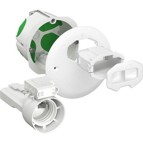 Boîte d'applique Multifix Air DCL avec couvercle + prise d'éclairage douille E27