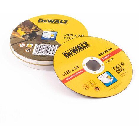 Boite de 10 disc à tronçonner l'inox Dewalt DT3507-QZ