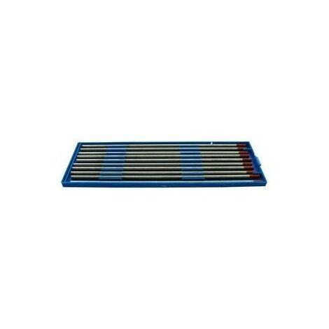 Boite de 10 électrodes tungstène E3 pour acier et inox - ø 1.6mm - bout violet